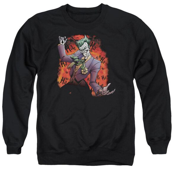 Batman Joker's Ave - Adult Crewneck Sweatshirt - Black