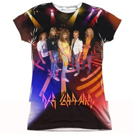Def Leppard On Stage Short Sleeve Junior Poly Crew T-Shirt