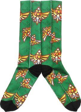 Legend of Zelda Crest Green Crew Socks