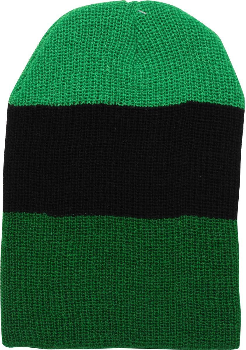 757dadef6f1 Zelda crest green and black stripe beanie fye jpg 584x831 Zelda green beanie