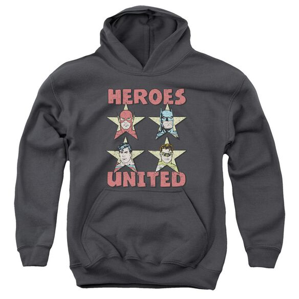 Jla United Stars Youth Pull Over Hoodie