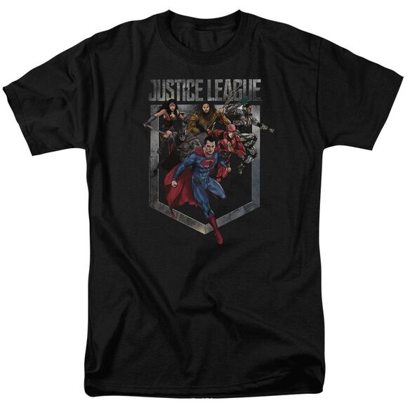 Justice League Movie Charge Short Sleeve Adult T-Shirt