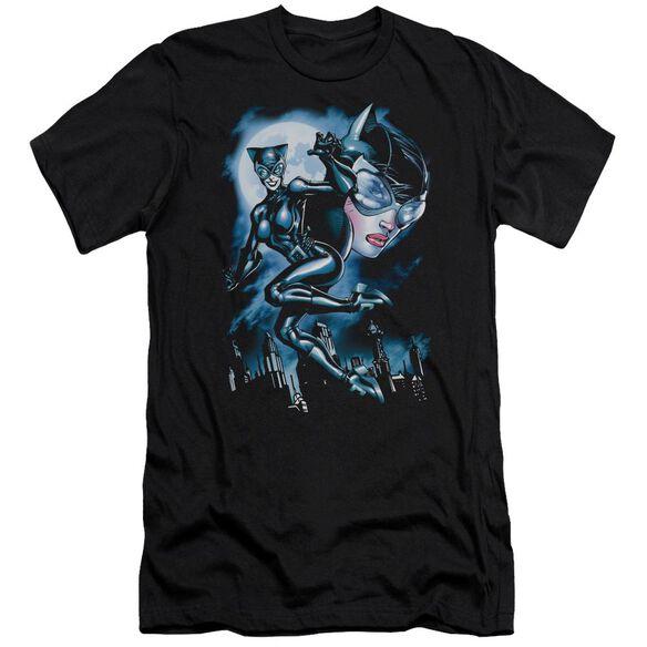 BATMAN MOONLIGHT CAT - S/S ADULT 30/1 - BLACK T-Shirt