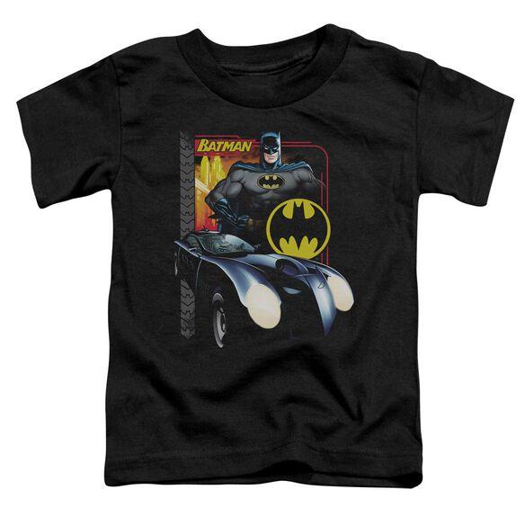 Batman Bat Racing Short Sleeve Toddler Tee Black Sm T-Shirt