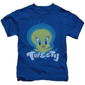 Looney Tunes Tweety Swirl Short Sleeve Juvenile Royal T-Shirt