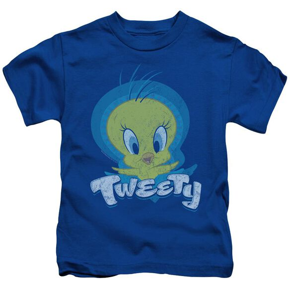 Looney Tunes Tweety Swirl Short Sleeve Juvenile Royal T-Shirt