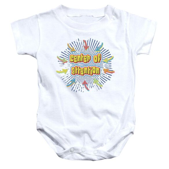 Center Of Attention Infant Snapsuit White Md