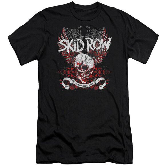 Skid Row Winged Skull Short Sleeve Adult T-Shirt
