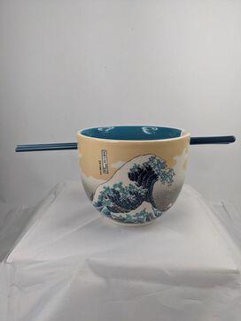Great Wave Off Kanagawa Ramen Bowl & Chopstick Set