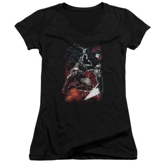 Batman Sparks Leap Junior V Neck T-Shirt