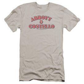 Abbott & Costello Logo Premuim Canvas Adult Slim Fit
