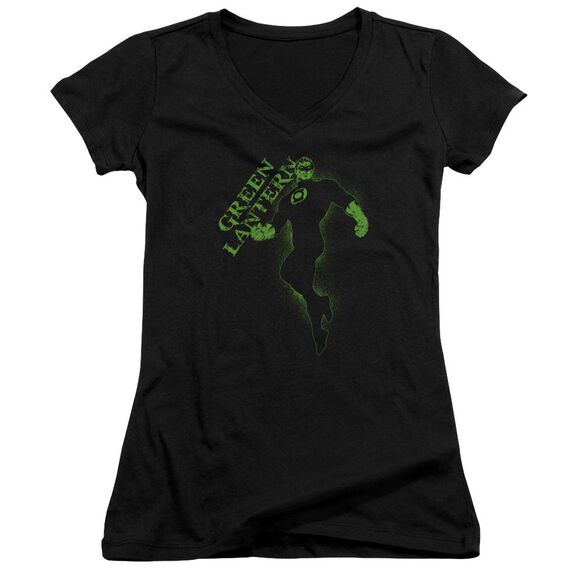 Gl Lantern Darkness Junior V Neck T-Shirt