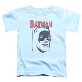 Batman Crayon Man Short Sleeve Toddler Tee Light Blue T-Shirt