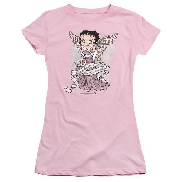 Betty Boop Grandma Guardian Angel Short Sleeve Junior Sheer T-Shirt