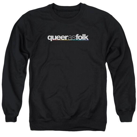 Queer As Folk Logo Adult Crewneck Sweatshirt