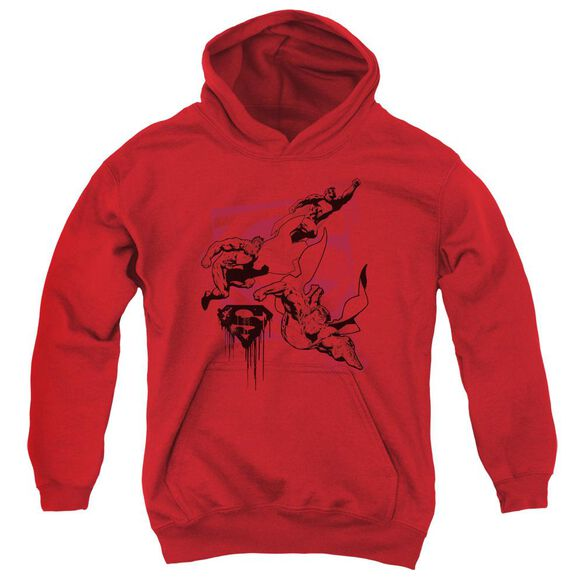 Superman Omnipresent Youth Pull Over Hoodie