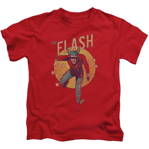 Dc Circle & Stars Short Sleeve Juvenile Red T-Shirt