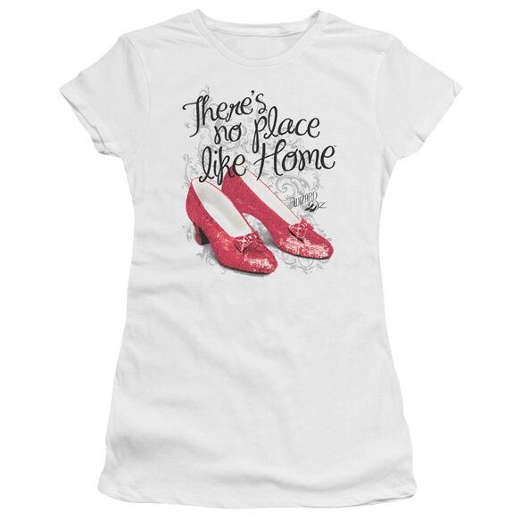 Wizard Of Oz Ruby Slippers Short Sleeve Junior Sheer T-Shirt