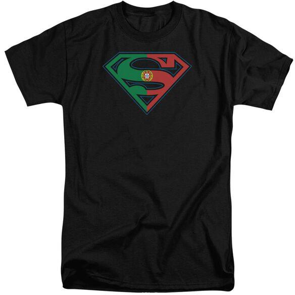 Superman Portugal Shield Short Sleeve Adult Tall T-Shirt