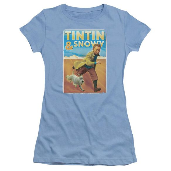 Tintin Tintin & Snowy Short Sleeve Junior Sheer Carolina T-Shirt