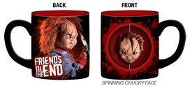 Spinning Chucky Face Mug