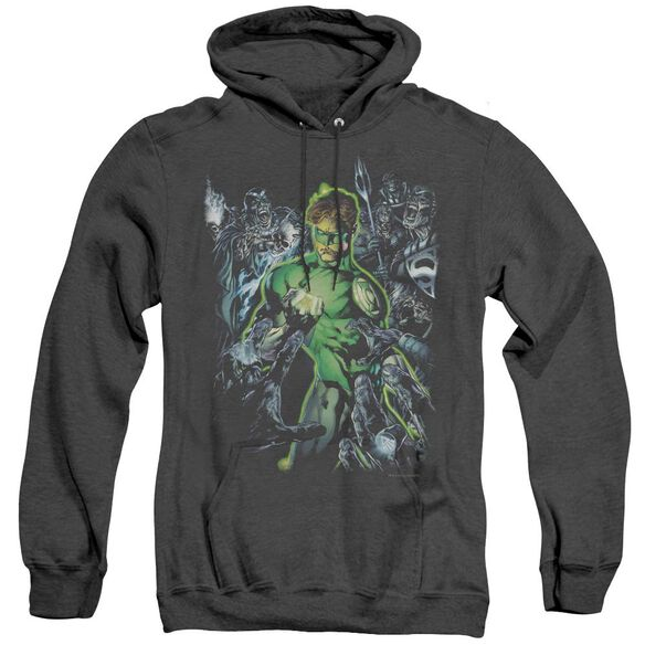 Green Lantern Surrounded By Death - Adult Heather Hoodie - Black
