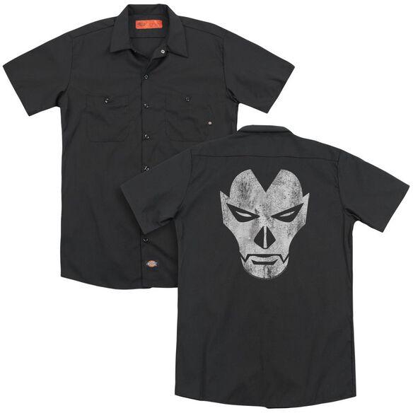 Shadowman Face(Back Print) Adult Work Shirt
