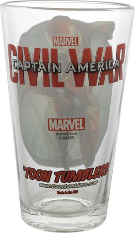 Captain America Civil War Iron Man TT Pint Glass