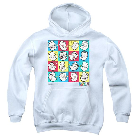 Popeye Color Block Youth Pull Over Hoodie