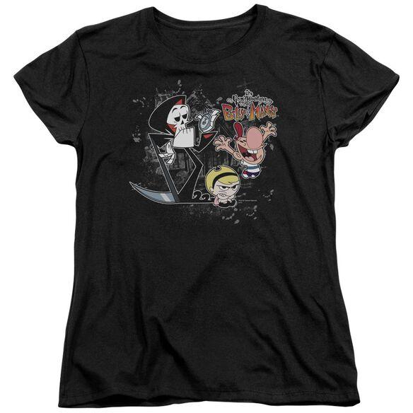 Billy & Mandy Splatter Cast Short Sleeve Womens Tee T-Shirt