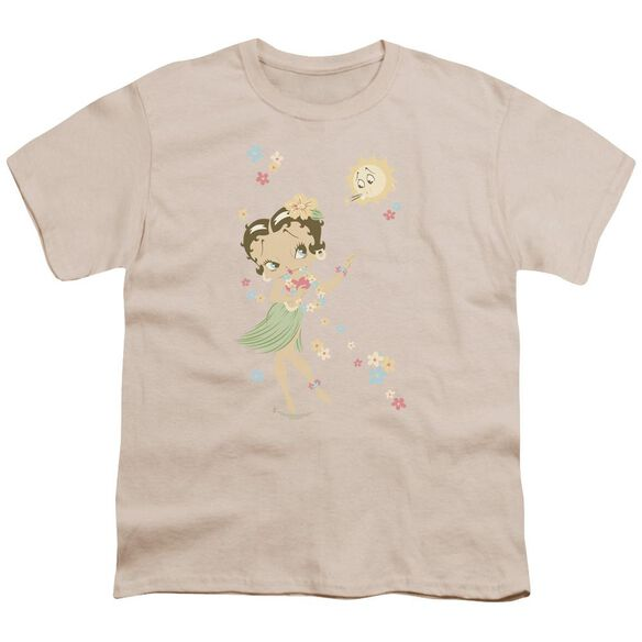 Betty Boop Hula Flowers Short Sleeve Youth T-Shirt