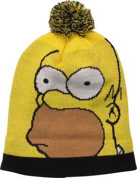 Simpsons Homer Face Cuff Pom Beanie