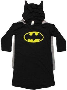 Batman Caped Hooded Junior NighT-Shirt Pajamas