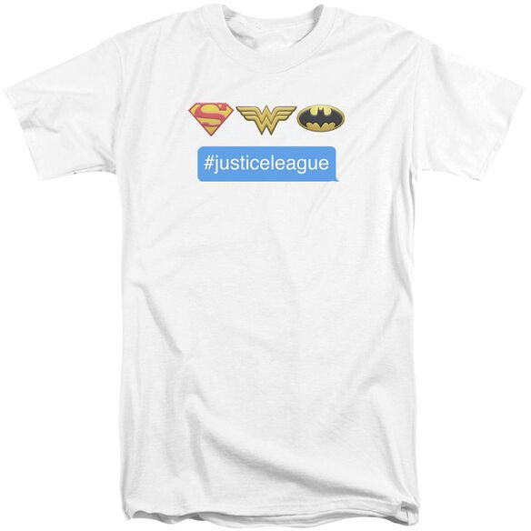 Dc Hashtag Jla Short Sleeve Adult Tall T-Shirt
