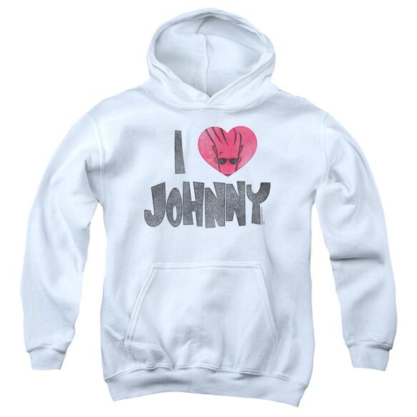 Johnny Bravo I Heart Johnny Youth Pull Over Hoodie