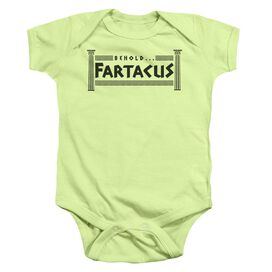 Fartacus Infant Snapsuit Soft Green Md