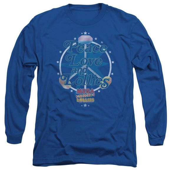 SMARTIES PEACE LOLLIES - L/S ADULT 18/1 - ROYAL BLUE T-Shirt