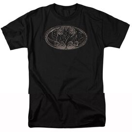 BATMAN BIO MECH BAT SHIELD - S/S ADULT 18/1 - BLACK T-Shirt