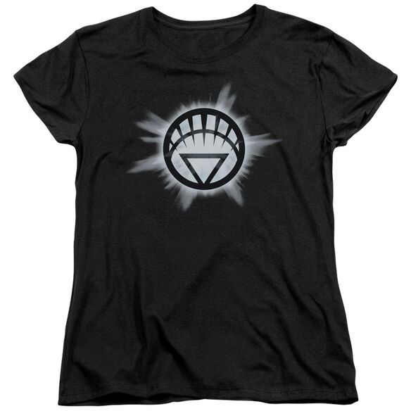 Green Lantern White Glow Short Sleeve Womens Tee T-Shirt