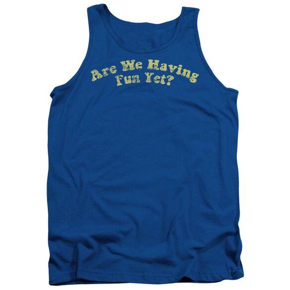 Are We Having Fun? - Adult Tank - Royal Blue