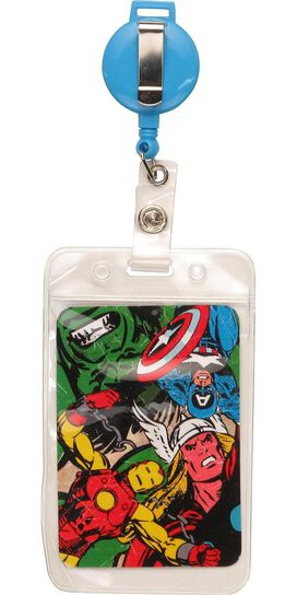 Captain America Logo Badge Retractable Lanyard