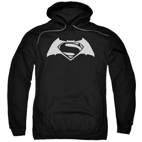 Batman V Superman Simple Logo Adult Pull Over Hoodie