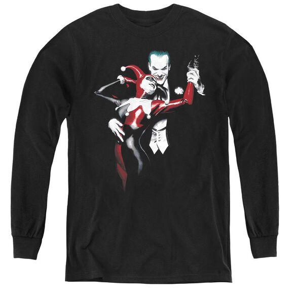 Batman Harley And Joker - Youth Long Sleeve Tee - Black