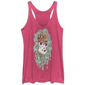 We Bare Bears Ice Cream Tank Top Juniors T-Shirt