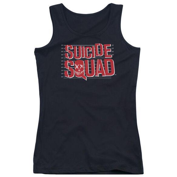 Suicide Squad Lineup Logo Juniors Tank Top