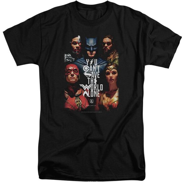 Justice League Movie Save The World Poster Short Sleeve Adult Tall T-Shirt