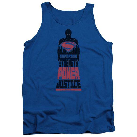 Batman V Superman Super Justice Adult Tank Royal