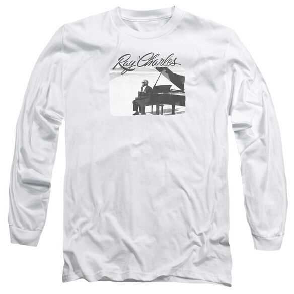 RAY CHARLE UNNY RAY - L/S ADULT 18/1 - WHITE T-Shirt