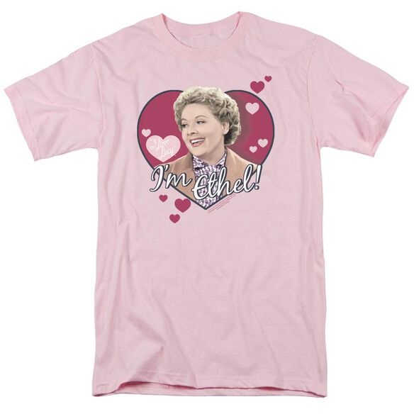 I Love Lucy Im Ethel Short Sleeve Adult Pink T-Shirt