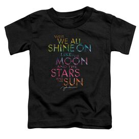 John Lennon All Shine On Short Sleeve Toddler Tee Black T-Shirt